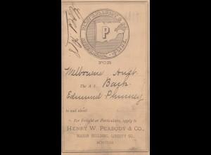 USA 1888 post card Boston to St. Louis