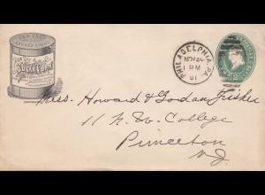 USA 1891: Philadelphia to Princeton, Sugar-corn