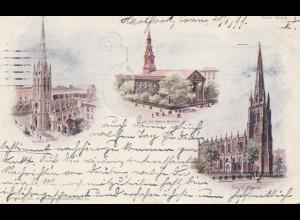 USA 1899 Post card Hartford, Conn to New York City