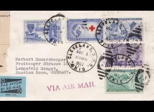 USA 1952: Cleveland, Ohio to Lengefeld, air mail