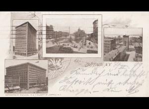 USA 1899: nice Post card Buffalo to Niagara Falls