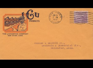 USA 1933: New Haven, Conn to Worcester, Mass, Livingston Company
