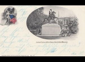 USA 1899: post card Washington White House to New York