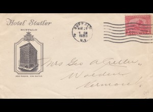 USA 1921: Buffalo to Vermont, Hotel Statler