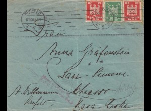 USA 1926: Kreefeld to Chicago, Missent to Chicago Ill