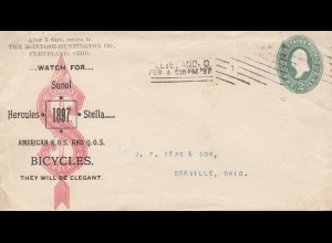 USA 1897: Cleveland, Ohio to Orrville, Hercules, Stella, Sunol Bicycles