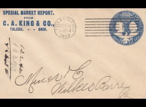 USA 1893: Toledo, Ohio to Milkes Barre, Pa