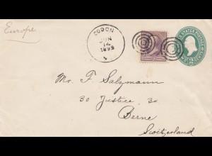 USA 1895: Dodon to Bern, Switzerland