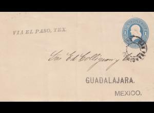 USA San Francisco to Gadalajara/Mexico via El Paso Tex
