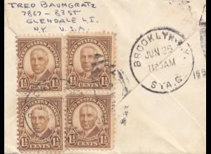 USA 1925: Brooklyn, Lendale to Mannheim/GErmany