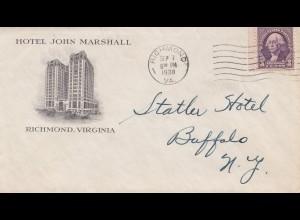 USA 1938: Richmond, Virgina to Buffalo, NY