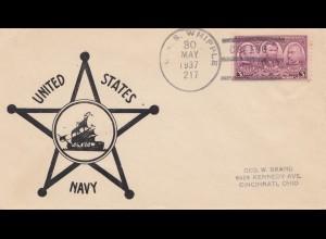 USA 1917: U.S. S. Whipple, US Navy to Cincinnati, Ohio, China, Black Hawk