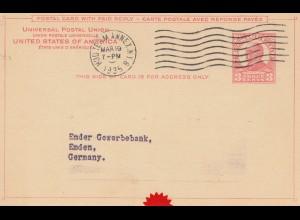 USA 1935: Hud Term Annex, N.Y. to Emden, Germany