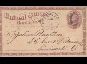 Philadelphia, post card to Cincinnati, O. Fine Carriages, Cabriolets, Landaulets