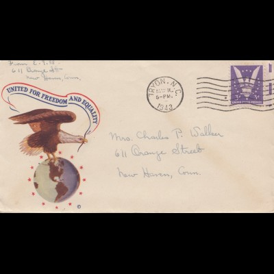 USA: 1943 Tryon, N.C. to New Haven, Conn