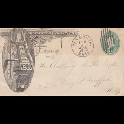 USA: 1892: Plymouth, Mass to Buffalo/NY