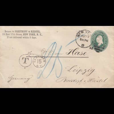 USA 1892: New York to Leipzig, Tax