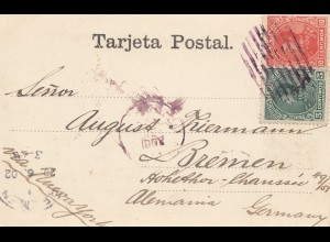 Venezuela 1902: post card to Bremen via New York