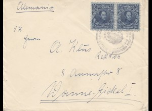 Venezuela 1933: letter to Wanne-Eickel, Germany