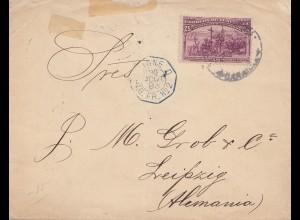 Venezuela 1893: Letter to Leipzig