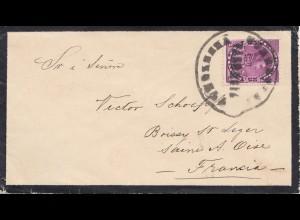 Venezuela 1898: letter to Saine A Oise, Boissy/France