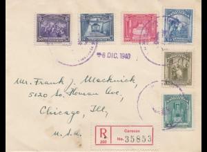 Venezuela 1940: registered Caracas to Chicago, Ill
