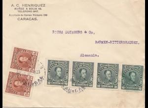 Venezuela 1923: Caracas to Barmen-Rittershausen