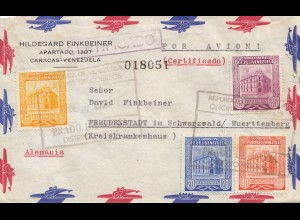Venezuela 1955: air mail Caracas to Freudenstadt/Germany