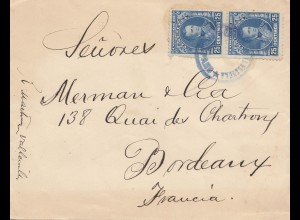 Venezuela letter to Bordeaux/France