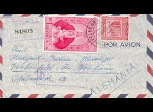 Venezuela air mail Lepanto, Caracas to Birkenfeld/Pforzheim