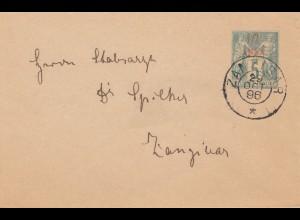 Zanzibar 1896: small letter