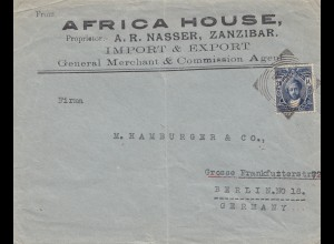 Zanzibar letter Africa House to Berlin