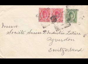 Zanzibar 1910: letter to Yverdon, Switzerland