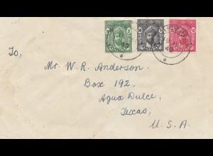 Zanzibar letter to Aqua Dulce Texas, USA