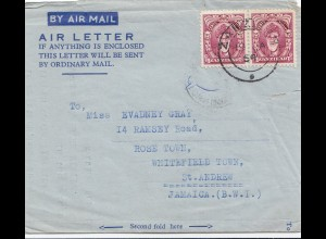 Zanzibar 1954: air mail to St. Andrew, Jamaica