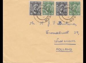 Zanzibar 1950 letter to Wassenaar, Holland