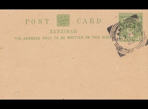 Zanzibar 1903 post card unused with cancel