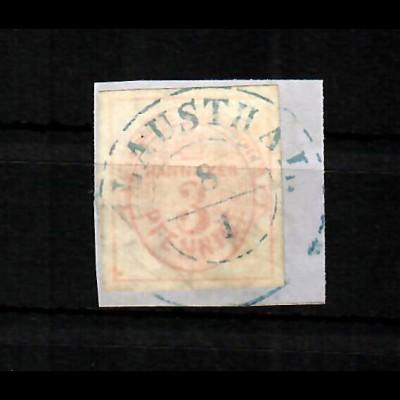 Hannover MiNr. 6, gestempelt auf Briefstück, BPP Signatur