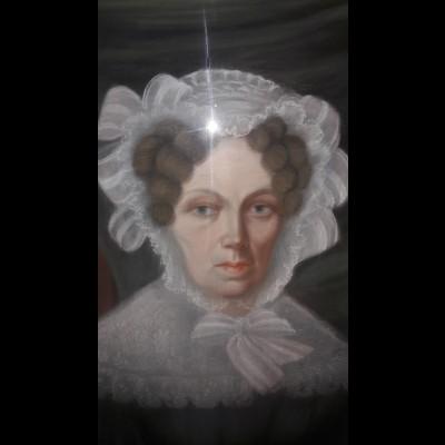 Frau Oberbürgermeister Kochendorf Pastellmalerei im Originalrahmen, Biedermeier
