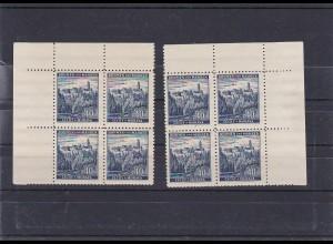 Böhmen & Mähren (B&M): postfrisch, MiNr. 25 Viererblock Eckrand