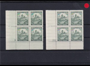 Böhmen & Mähren: **, postfrisch, MiNr. 26 Viererblock Eckrand