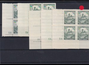 Böhmen & Mähren (B&M) **, postfrisch, MiNr. 26 Viererblock Eckrand