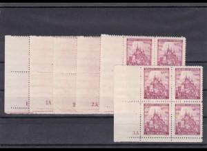 Böhmen & Mähren (B&M) **, postfrisch, MiNr. 28 Viererblock Eckrand 1-3, 1A-3A