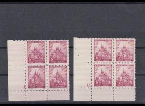 Böhmen & Mähren: **, postfrisch, MiNr. 28 Viererblock Eckrand
