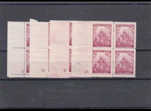 Böhmen & Mähren (B&M) postfrisch, Michel Nr. 28 Viererblock Eckrand