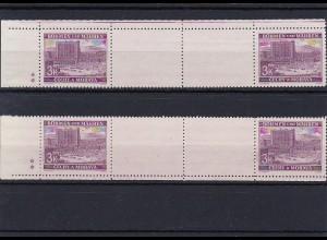 Böhmen & Mähren (B&M) **, postfrisch, MiNr. 33 Zwischensteg, Leerfelder, Sterne