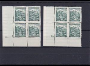 Böhmen & Mähren (B&M) **, postfrisch, MiNr. 39 Vierer Blöcke Nummer