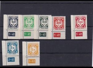 Böhmen & Mähren (B&M) **, postfrisch, Michel Nr. ex D1-12