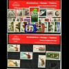 Motivkarten alle Welt, Flugpost, Gemälde, Kunst, Blumen, Olypmia, 8 Karten