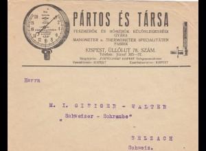 1915: Messuhren, Budapest nach Selzach, Schweiz